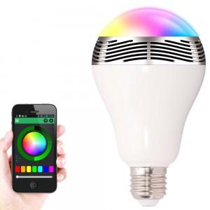 LÂMPADA LED E27 RGB com Bluetooth Controle App 4.0