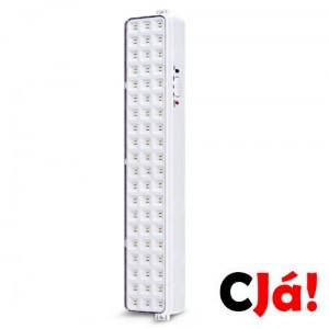 Iluminação de Emergência 60 leds Slim