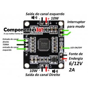 Amplificador PAM8610