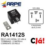 RA1412S RELE 12V 40A 4 TERMINAIS