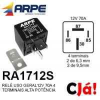 RA1712S RELE 12V 70A 4 TERMINAIS