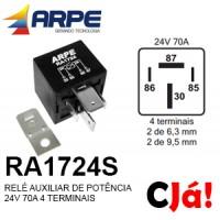 RA1724S RELE 24V 70A 4 TERMINAIS