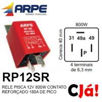 RP12SR RELE PISCA 12V 800W CONTATO REFORÇADO 180A DE PICO