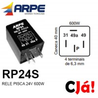 RP24S RELE DE PISCA 24V 600W
