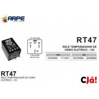 RT47 RELE TEMPORIZADOR DE VIDRO ELÉTRICO - 12V