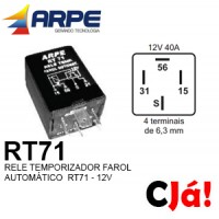 RT71 12V RELE TEMPORIZADOR DE FAROL AUTOMÁTICO