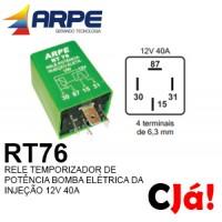RT76 12V 40A RELE TEMPORIZADOR DE POTÊNCIA BOMBA ELÉTRICA DA INJECÇÃO