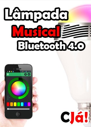 Lâmpada Musical Bluetooth